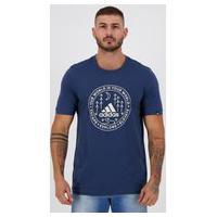 Camiseta Adidas Grafica Explorer Azul