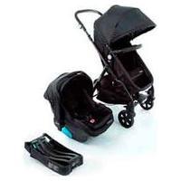 Carrinho Com Bebê Conforto Trio Poppy Travel System Preto Mescla - Cosco