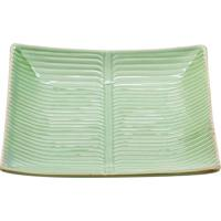 Prato Decorativo Folhagem- Verde- 4X21,5X21,5Cm-Lyor