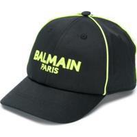 Balmain Kids Logo Cap - Preto