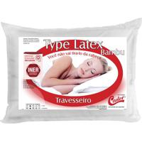 Travesseiro Type Latex- Branco- 16X65X45Cm- Castcastor