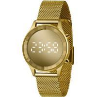 Relógio Lince Styles Digital Dourado Ldg4648L-Cxkx Feminino - Unissex-Dourado