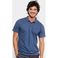 ... Camisa Polo Quiksilver Piquet Masculina - Masculino-Azul Petróleo 091df756f1a1b