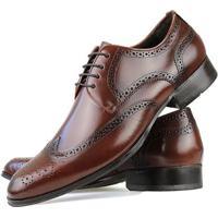 23b10fba38 ... Sapato Social Florense Oxford Classico Couro Masculino - Masculino -Caramelo