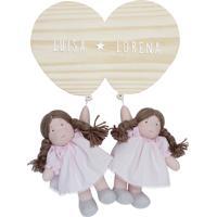 Porta Maternidade Gêmeas Bexigas Irmãs Meninas Bonecas Bebê Potinho De Mel