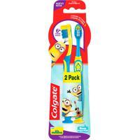 Escova Dental Infantil Colgate Minions Extra Macia 6+ Anos Cores Sortidas 2 Unidades