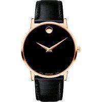 Relógio Movado Masculino Couro Preto - 607272