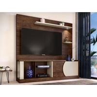 "Home Theater Para Tv Até 60"" Vittorino Havana/Off-White - Caemmun"