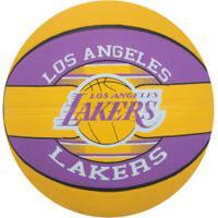 Bola De Basquete Spalding Nba Los Angeles Lakers Team - Amarelo/Roxo