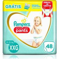 Fralda Pampers Pants Premium Care Xxg 48 Unidades + 1 Par De Meias Infantis
