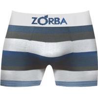 Cueca Boxer Zorba Listrada - Masculino-Branco
