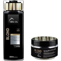 Kit Truss Blond Shampoo 300Ml E Máscara 180Gr Cabelos Loiros - Unissex-Incolor