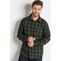 ... Camisa Xadrez Verde Em Flanela Actual b48b7d8b4fc