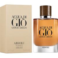 Perfume Acqua Di Giò Absolu Masculino Giorgio Armani Eau De Parfum 75Ml - Masculino-Incolor