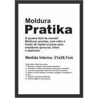 Moldura Em Madeira Pratika 34X25Cm Preta