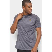Camiseta Fila Stripes Masculina - Masculino-Cinza