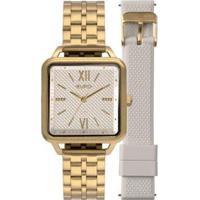 Relógio Euro Boyfriend 33Mm Licone Feminino - Feminino-Dourado