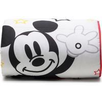 Edredom Mickeyâ® Play Solteiro- Branco & Vermelho- 15Santista