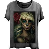 Camiseta Skull Lab Girl Cinza