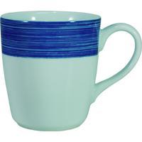 Caneca Porcelana Schmidt 225 Ml - Dec. Cilíndrica Azul