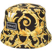 Young Versace Chapéu Com Estampa Barroca - Dourado