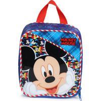 Lancheira Infantil Xeryus Mickey Azul E Vermelho Azul E Vermelho