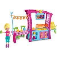Playset Com Boneca Polly Pocket - Churrasco Divertido - Mattel - Feminino