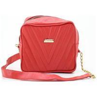 Bolsa Feminino Pequena Clutch Deseo Deseo Matelassê Couro Leg Vermelho - 301Vm