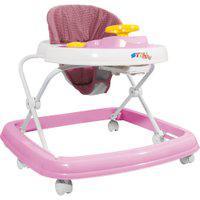 Andador Sonoro - Branco E Rosa - Styll Baby