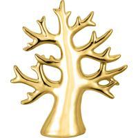 Árvore Dourada Em Cerâmica