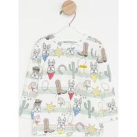 Camiseta Cowboy- Verde & Off White- Oliveroliver