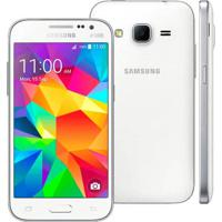 "Smartphone Samsung Galaxy Win 2 Duos - Branco - 8Gb - 5Mp - Tela 4.5"" - Android 4.4"