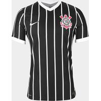 Camisa Corinthians Ii 20/21 S/N° Jogador Nike Masculina - Masculino-Preto+Branco