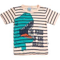 Camiseta Infantil Estampa Dinossauro Abra