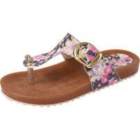Sandália Raniel Calçados Birken Abs Floral Preto