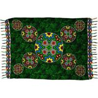 Canga Shopping Bali Mandala Rainbow 3 - Feminino-Verde Escuro