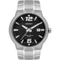 Relógio Orient Masculino Mbss1367 P2Sx Pulseira E Caixa Aço Prateado Mostrador Preto