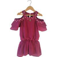 Vestido Gira Baby Kids Ombro Vazado