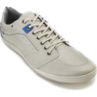 Sapatênis Cotton 4111 - Masculino-Off White+Azul