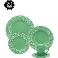 Aparelho De Jantar E Chá 20Pçs Oxford Daily Mendi Salvia Verde