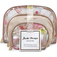 Kit De Necessaire Jacki Design De 3 Peças Feminino - Feminino-Dourado