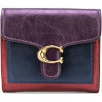 Coach Logo-Plaque Wallet - Vermelho