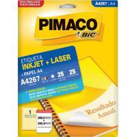 Etiqueta Adesiva Pimaco A4 Com 25 Unidades 288,5X200Mm