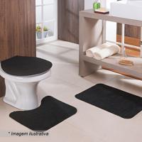 Jogo Para Banheiro Com Relevo- Preto- 3Pã§S- Oasioasis