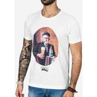 Camiseta Hermoso Compadre Velho Cervejeiro Uli - Masculino-Branco