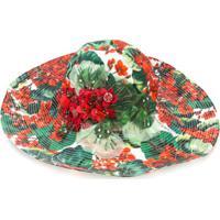 Dolce & Gabbana Chapéu Floral Em Algodão - Verde