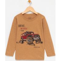 Camiseta Infantil Estampa Carro - Tam 1 A 4