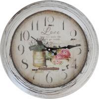 Relógio De Parede Rústico Garden 37Cm
