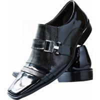 4faaeb9006 Sapato Social Envernizado Gofer Couro - Masculino-Preto
