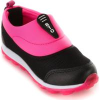 Tênis Botinho Juvenil 685 - Feminino-Preto+Pink